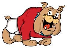 bulldoggtecknad filmillustration stock illustrationer