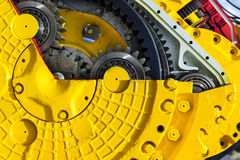 Bulldozed drive gear mechanism Stock Images
