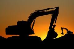 Bulldozer. A bulldozer in a sunset Royalty Free Stock Photos
