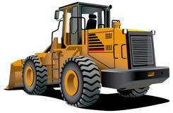 Bulldozer. Detailed ial image of bulldozer isolated on white background Royalty Free Stock Images
