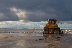 Bulldozer. A Big bulldozer at the Beach royalty free stock images