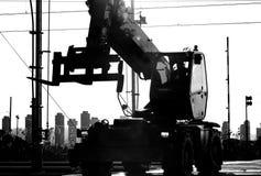 Bulldozer. At the construction site Stock Photo