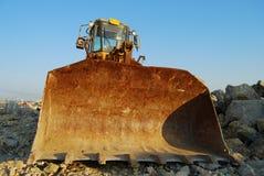 Bulldozer. Construction front loader taking a break Stock Image