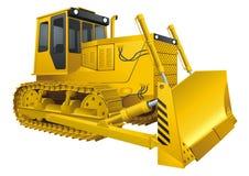 Bulldozer. Vector illustration of Yellow Bulldozer Royalty Free Stock Image