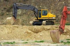 Bulldozer. Construction machinery to excavate ground Royalty Free Stock Photos