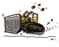 Bulldozer Royalty-vrije Stock Afbeeldingen
