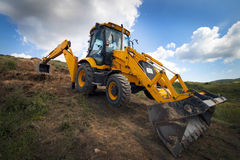 Bulldozer. Heavy construction loader bulldozer at construction area Royalty Free Stock Photography