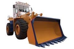 Bulldozer. Big Bulldozer Isolated on White Royalty Free Stock Photo