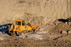 Bulldozer. Earthmoving equipment bulldozer at work Royalty Free Stock Photos