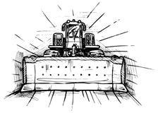 Bulldozer royalty-vrije illustratie