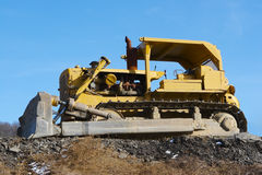 Bulldozer. With clear blue Sky Stock Photo