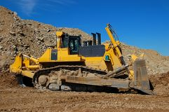 Bulldozer. Great bulldozer  in open cast mining quarry Royalty Free Stock Photography