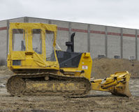 Bulldozer. With Rain Cover Stock Image