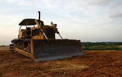 Bulldozer. Sunset shot of bulldozer royalty free stock images