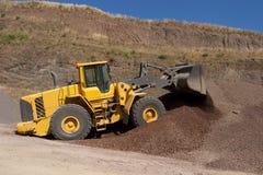 Bulldozer in action Stock Image