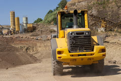 Bulldozer in action Royalty Free Stock Photography