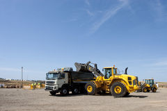 Bulldozer in action Stock Photography