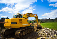 Bulldozer back - horizontal Stock Photography