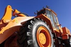 Bulldozer bottom view stock photo