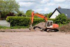 Bulldozer, Bouwwerf Royalty-vrije Stock Afbeelding