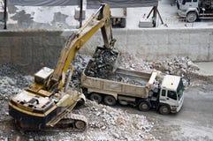 Bulldozer in bouwwerf Royalty-vrije Stock Afbeelding