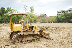 The bulldozer. On a building site Royalty Free Stock Images