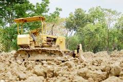 The bulldozer. On a building site Royalty Free Stock Photos