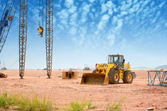 Bulldozer on building site Royalty Free Stock Photo