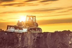 Bulldozer in the building site. Stock Photography