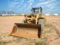 Bulldozer on a building site Royalty Free Stock Image
