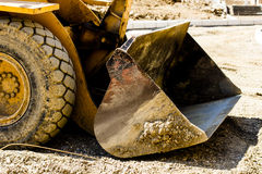 Bulldozer on building site Stock Photography