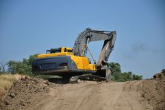 Bulldozer on a building site Royalty Free Stock Photography