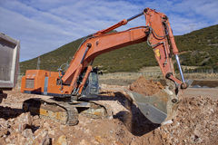 Bulldozer,Bulldozer in the process Stock Photos
