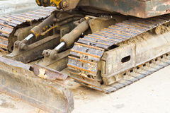 Bulldozer chain Stock Images