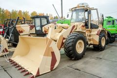 Bulldozer of Chelyabinsk Tractor Plant.Russia Royalty Free Stock Photos