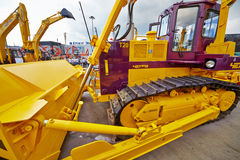 Bulldozer CHETRA T20 at 13th International Exhibition Stock Photos