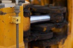Bulldozer close up Stock Photo