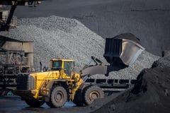 Bulldozer coal Royalty Free Stock Images