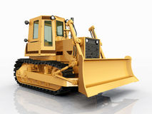 Bulldozer. Computer generated 3D illustration with a Bulldozer Royalty Free Stock Photo