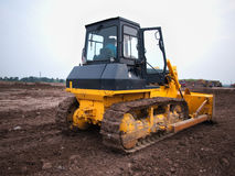 Bulldozer In Construction Stock Image