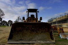 Bulldozer and construction Royalty Free Stock Photo