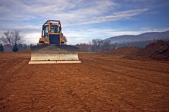 Bulldozer construction  Stock Photo