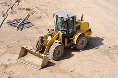 Bulldozer at Construction Site Stock Image