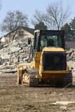 Bulldozer at a construction site stock photography