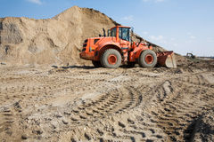 Bulldozer on construction site Royalty Free Stock Image