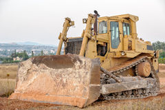Bulldozer on construction site Royalty Free Stock Photography