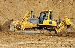 Bulldozer at construction site royalty free stock photos