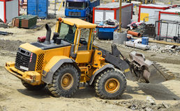Bulldozer at the construction site Royalty Free Stock Images