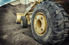 Bulldozer construction site Royalty Free Stock Photo