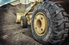 Bulldozer construction site royalty free stock photo
